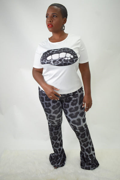 lip service flare pants set curvaceous fashion print on print curvy fashion plus size