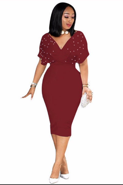 Diana Beaded Midi Dress curvaceous fashion midi dress curvy plus size