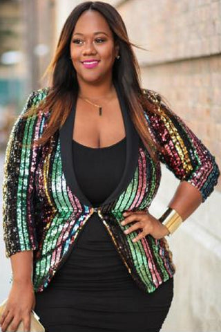 Disco Sequin Blazer