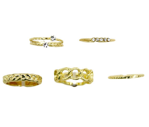 curvaceous fashion rings pack of 5