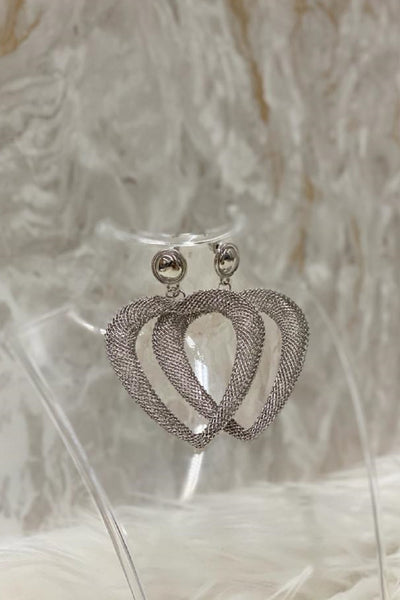 Mesh Heart Earrings
