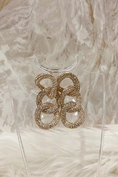 Diamante Linked Earrings