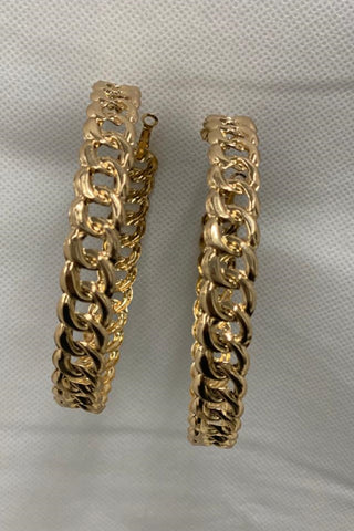 Over-sized Chain Hoops