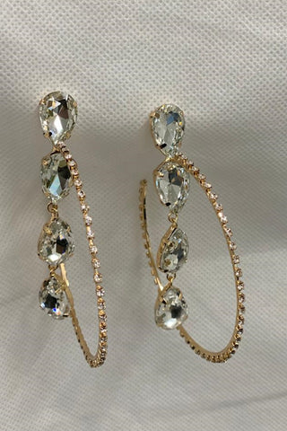 Stone Drop Diamante Earrings