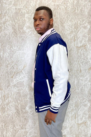 Oxford Navy / White Varsity Jacket