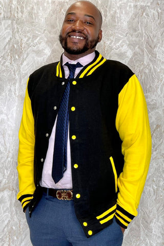 Jet Black / Sun Yellow Varsity Jacket