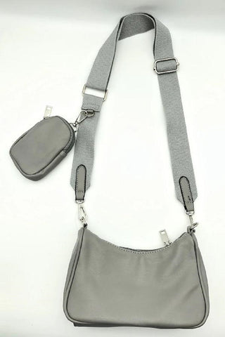PU Cross Body Handbag with Purse