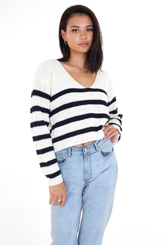 Cropped Fisherman Striped Jumper