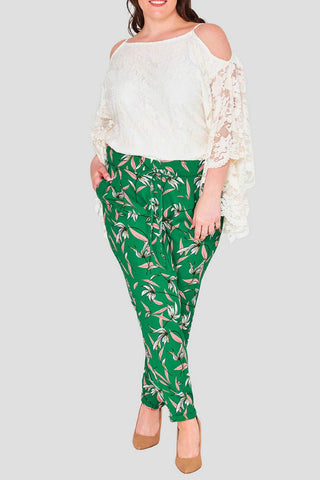 Jungle Green Leaf Trousers