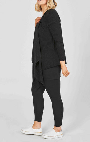 hip cardigan black comfort curves soft material