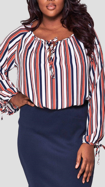 Stripes On Me Multi Print Blouse