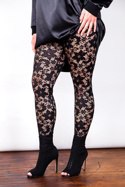 spice lace leggings sexy club wear curves high fashion