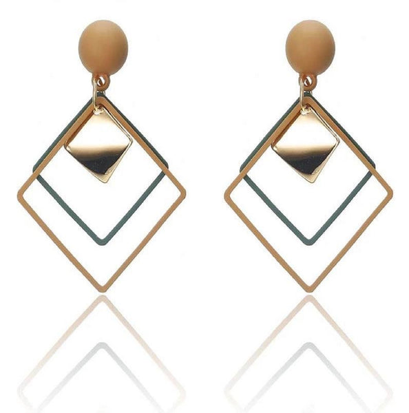 Four Squared Drop Earrings