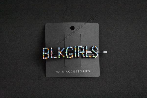 BLK GIRLS Slogan Hair Slide