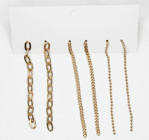 chain drop earrings fashion custom earrings chain earrings gold and silver multipack earrings gold earrings silver earrings