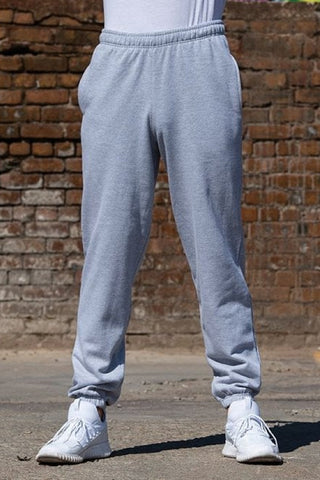 Cuffed Heather Grey Sweatpants