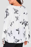 Fly With Me Butterfly Print Blouse