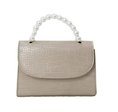 Faux Croc Pearl Handbag curvaceous fashion bags beard autumn bags winter bags work bags evening bags