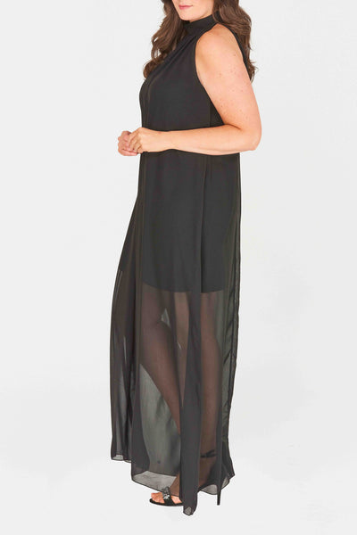 Dallas High Neck Maxi Dress
