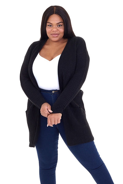 curvaceous fashion chunky knit cable cardigan winter fashion plus size lounge wear