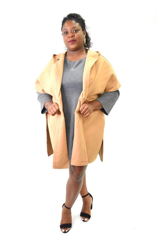bat winged coat lifht weight curvaceous fashion curves plus size