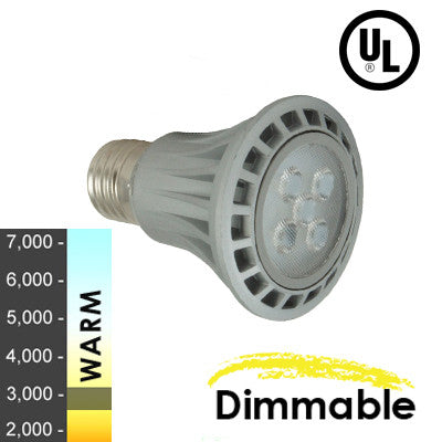 "40W Equivalent - 7 Watt ""Nova Series"" PAR20 LED - Warm White - Dimmable"