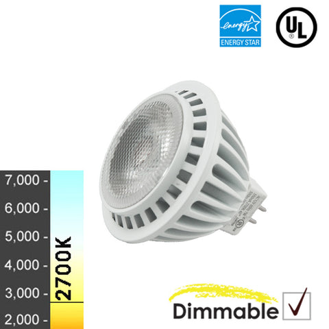 "50W Equivalent - 7W ""Radiance G2 Series"" MR16 LED - Warm White Light- 10 Pack"