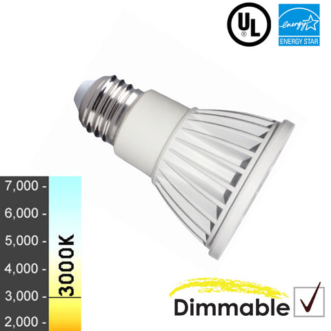 "50W Equivalent - 8 Watt ""Viking"" Series PAR20 LED - Warm White - Dimmable- 10 Pack"