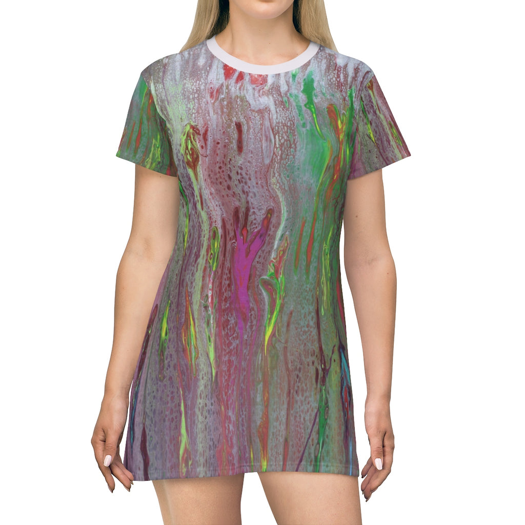 Rainbow Eucalyptus  T-shirt Dress