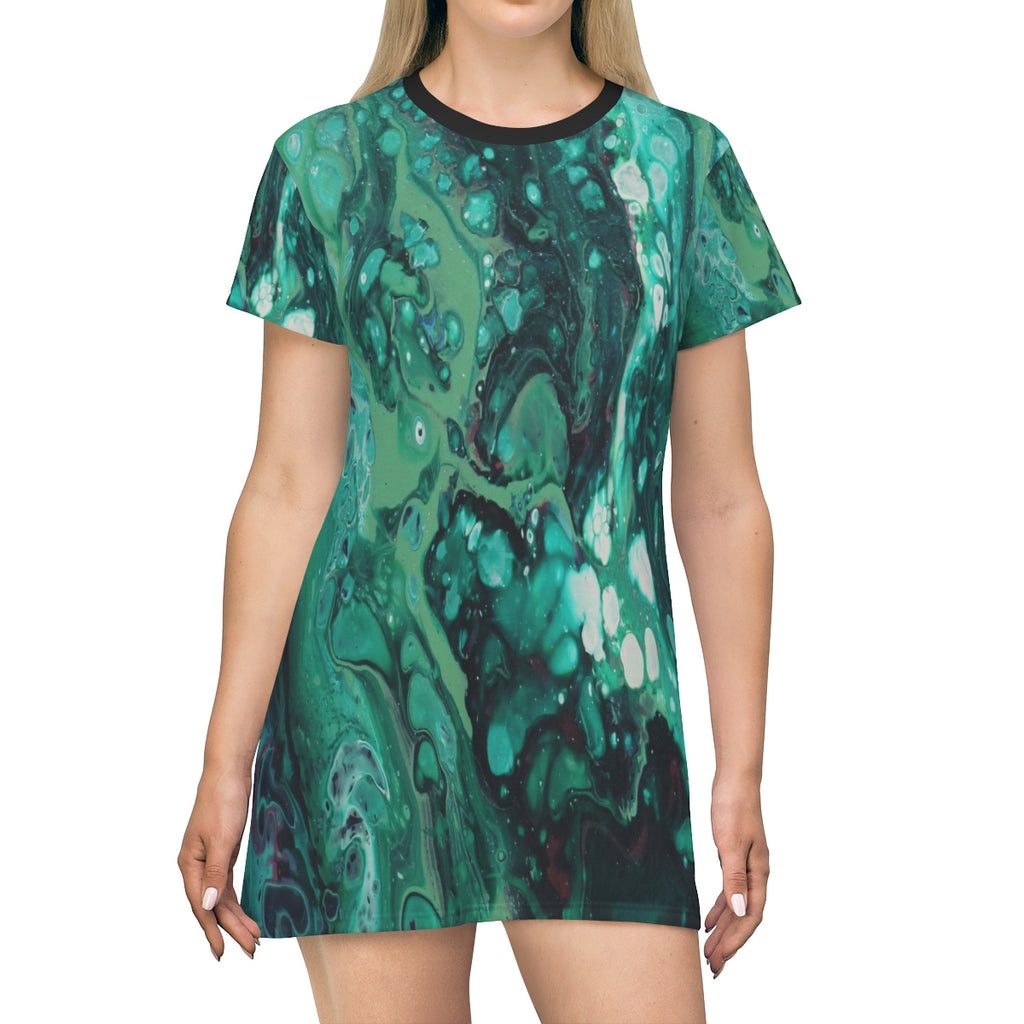 Envious Green T-shirt Dress