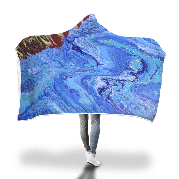 Warm Seas Hooded Blanket