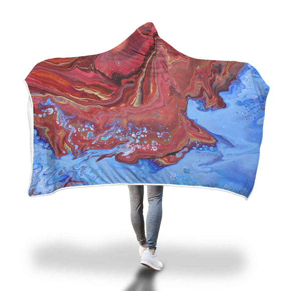 Hot Waters Hooded Blanket