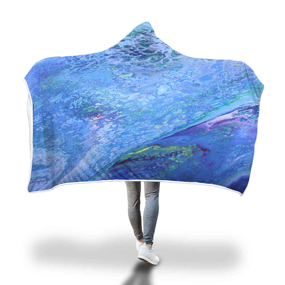 Psychedelic Waters Hooded Blanket