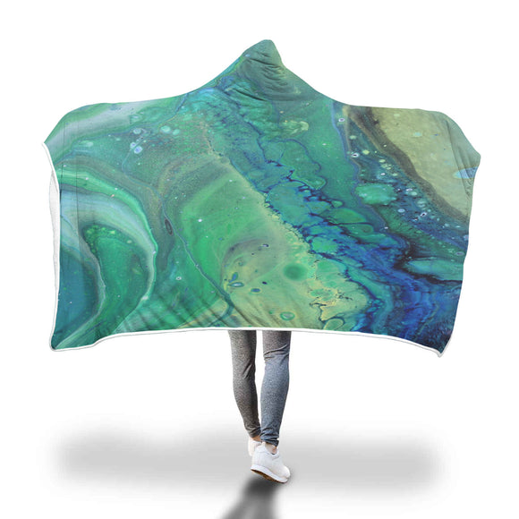Feelin Green Hooded Blanket