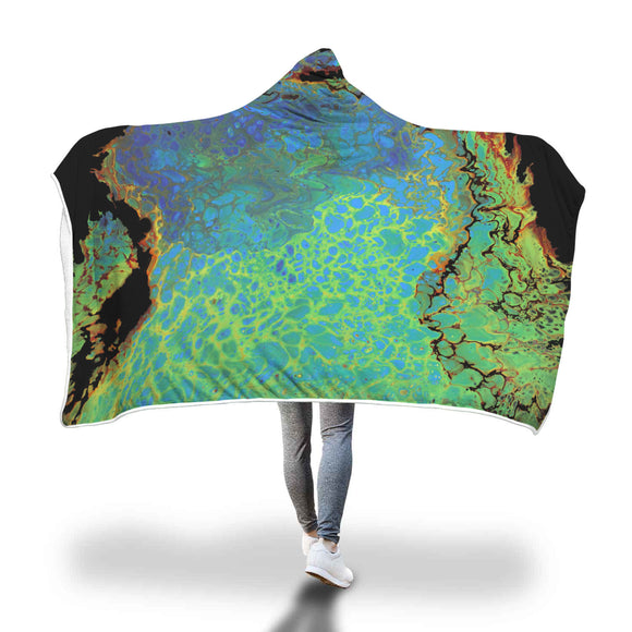 Flames of Desire Hooded Blanket