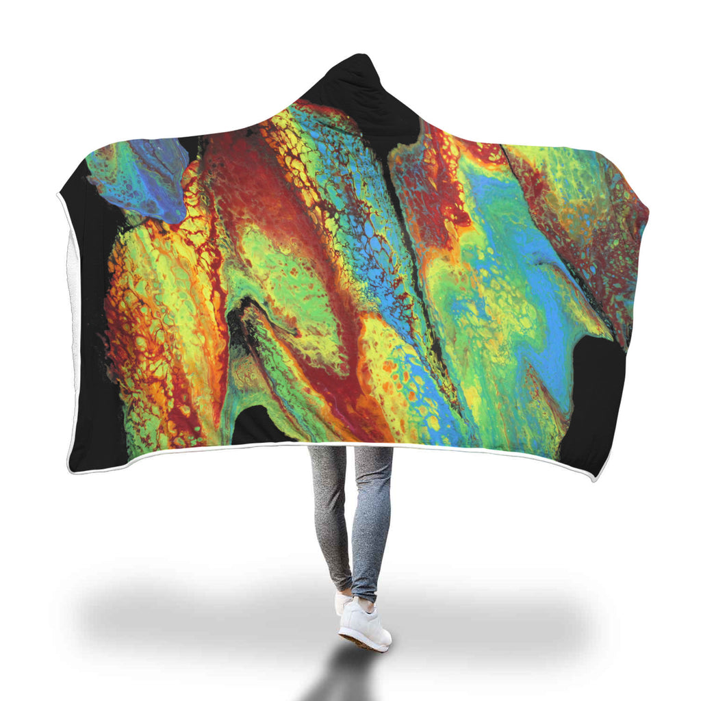 Rainbow Slide Hooded Blanket