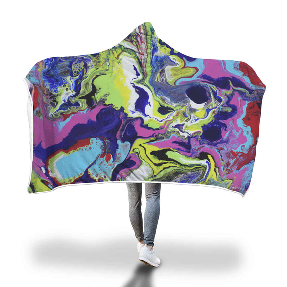 Explosive Color Hooded Blanket