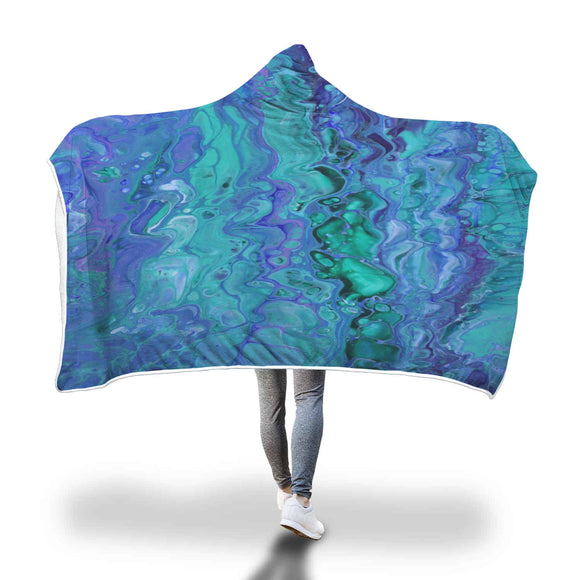 Purple Waters Hooded Blanket
