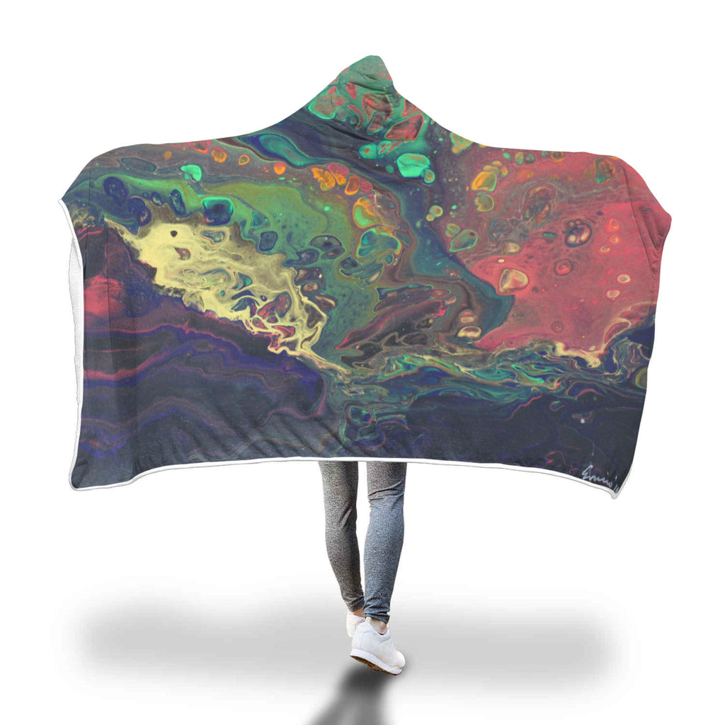 Oil Slick Hooded Blanket