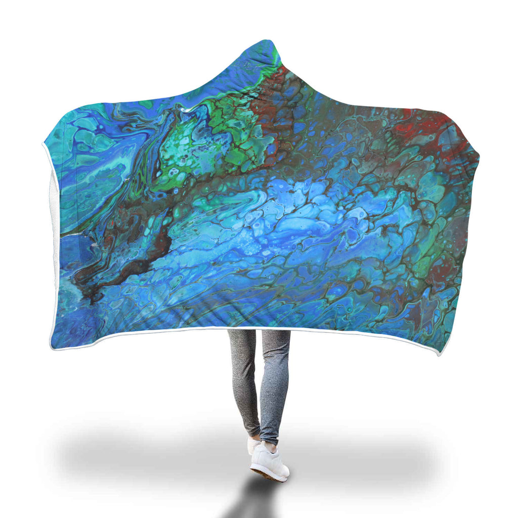 Sea Green Hooded Blanket