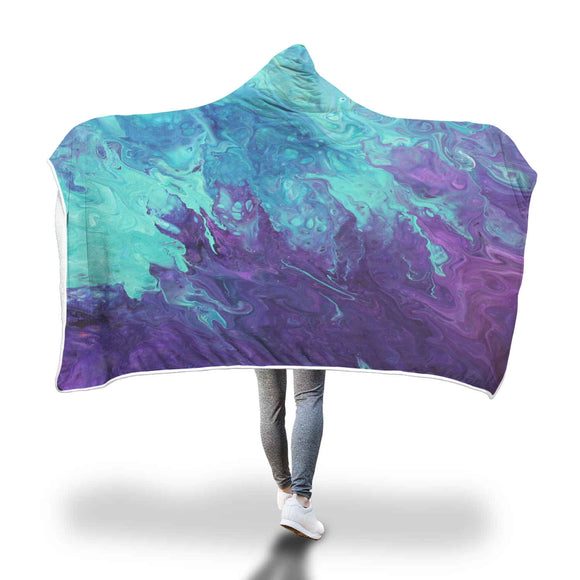 Lavender Twist Hooded Blanket