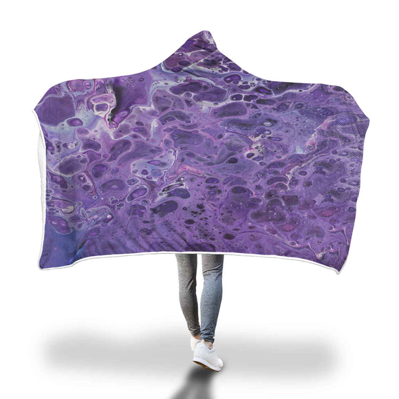 Shy Violet Hooded Blanket