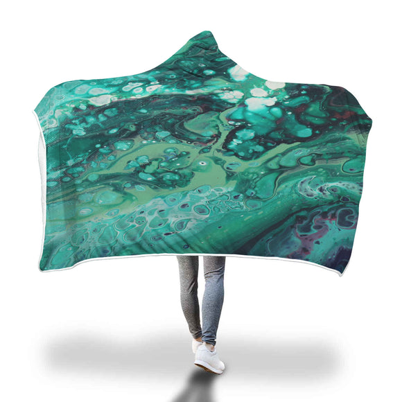 Envious Greens Hooded Blanket