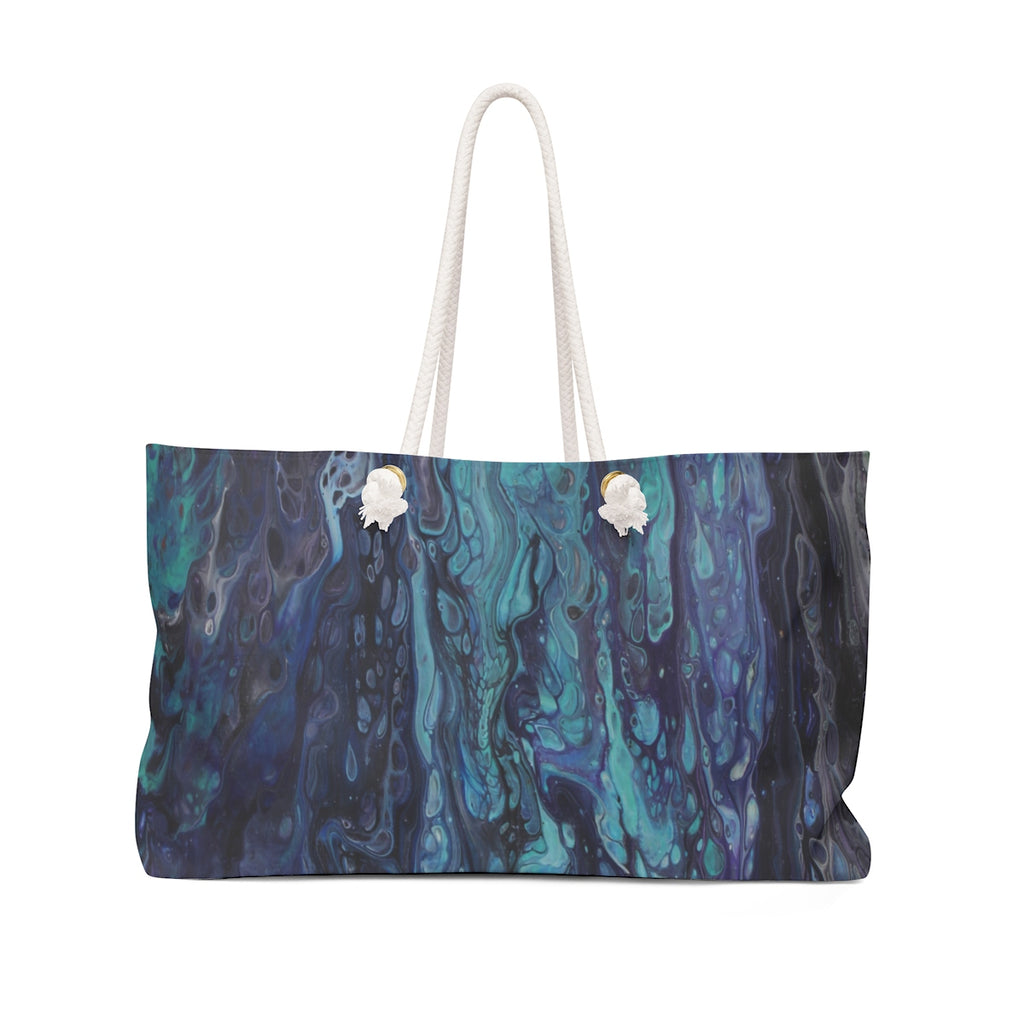 Dripping in Blues Weekender Bag