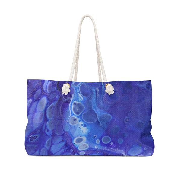 Blue Bubbles Weekender Bag