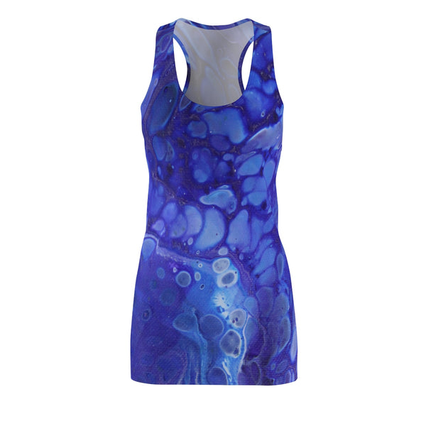 Blue Bubbles Racerback Dress