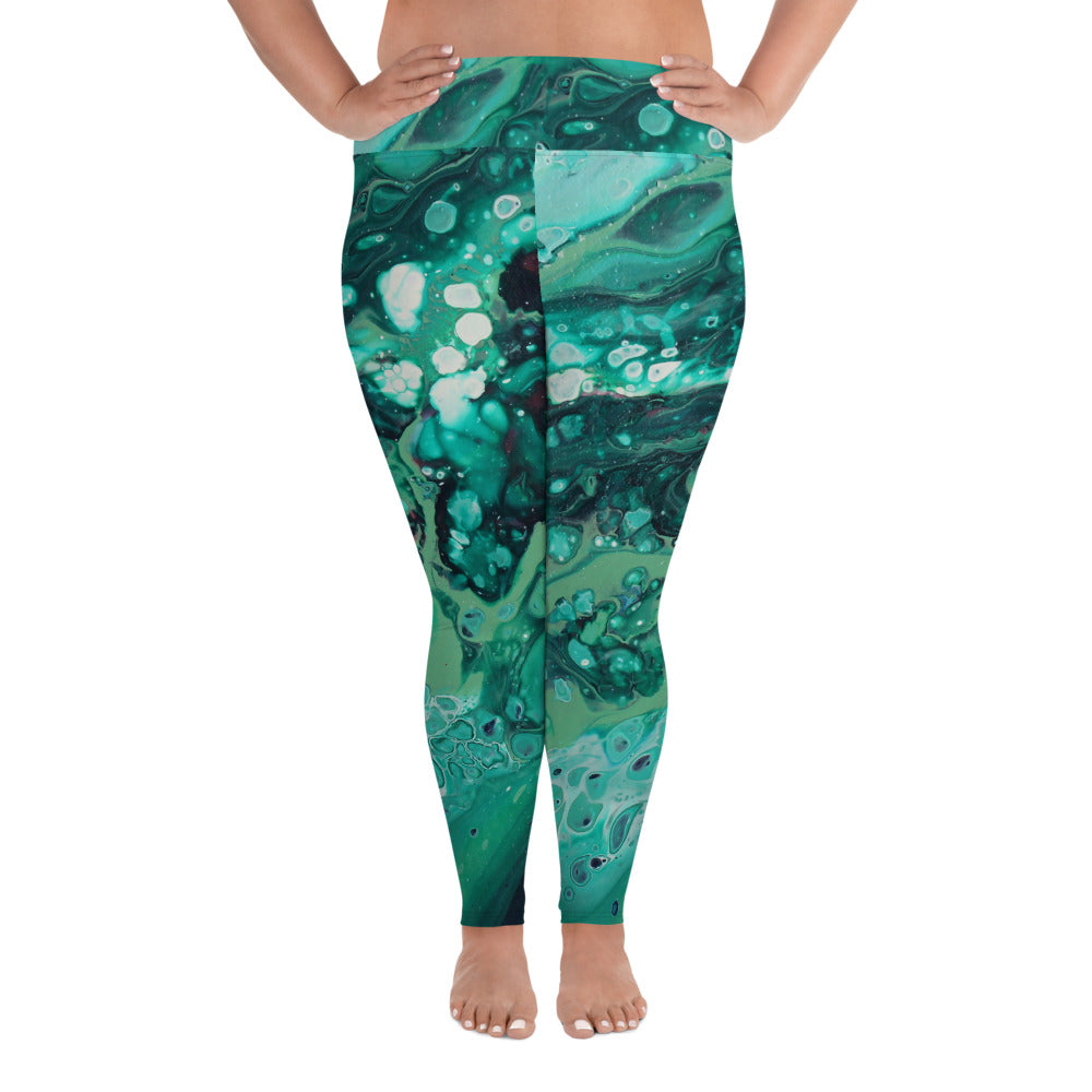 Envious Green Plus Size Leggings