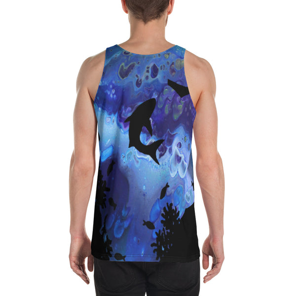 Sharks Swimming Tank Top