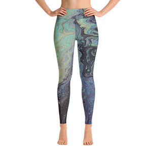 Galactic Swirl Yoga Leggings