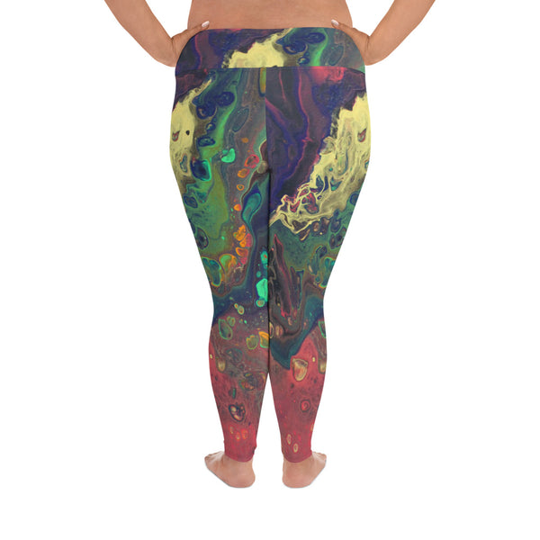 Oil Slick Plus Size Leggings